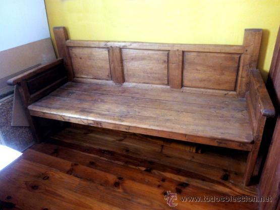 banco, escaño, antiguo, madera de olmo, 3 cuart - Comprar Sofás ...