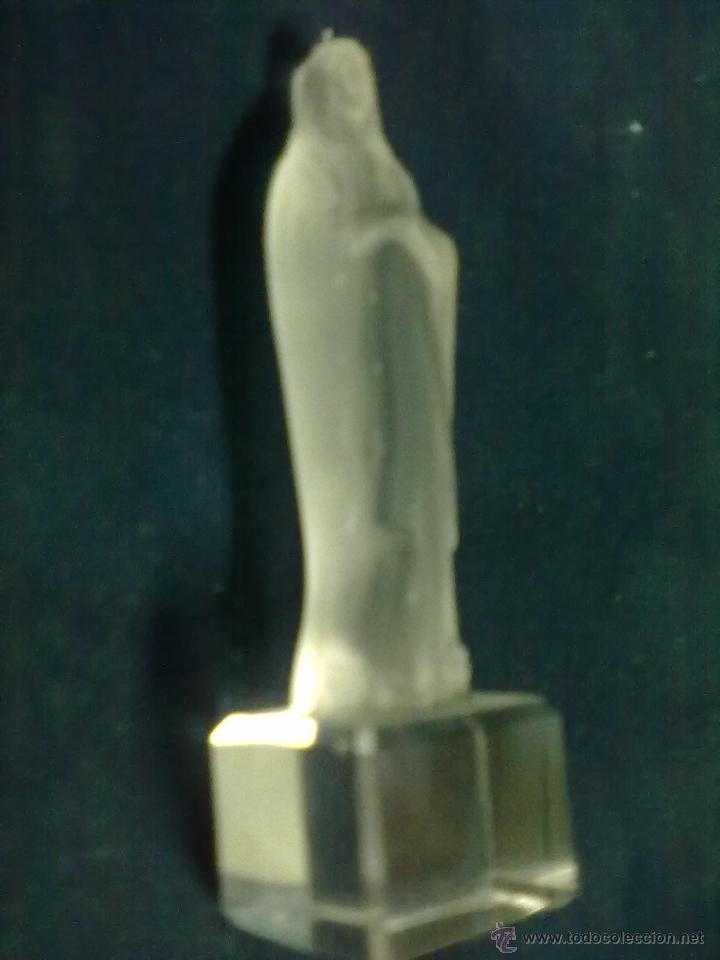 Antigüedades: LOURDES VIRGEN ORANTE DOS TONOS CRISTAL GLASEADO - Foto 3 - 49501607