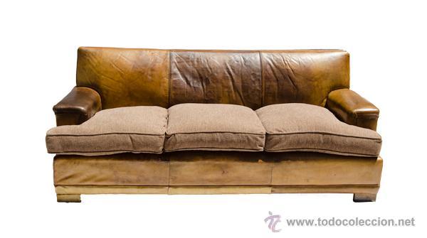 Sof antiguo de piel comprar sof s antiguos en for Sofas clasicos de piel