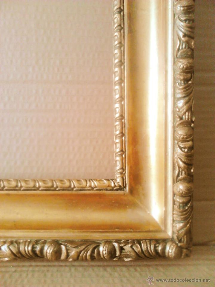moldura - marco dorado s.xix - pan de oro - mad - Comprar Marcos ...