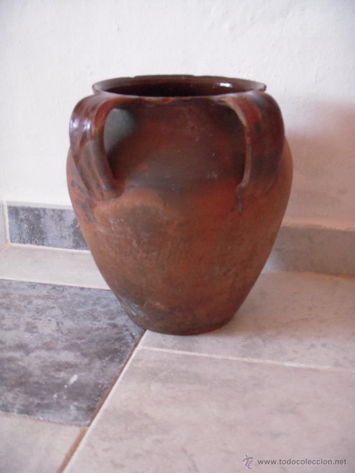 VASIJA TINAJA DE DOS ASAS CERAMICA (Antigüedades - Porcelanas y Cerámicas - Otras)