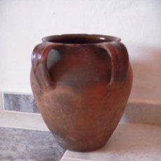 Antigüedades: VASIJA TINAJA DE DOS ASAS CERAMICA . Lote 49512748