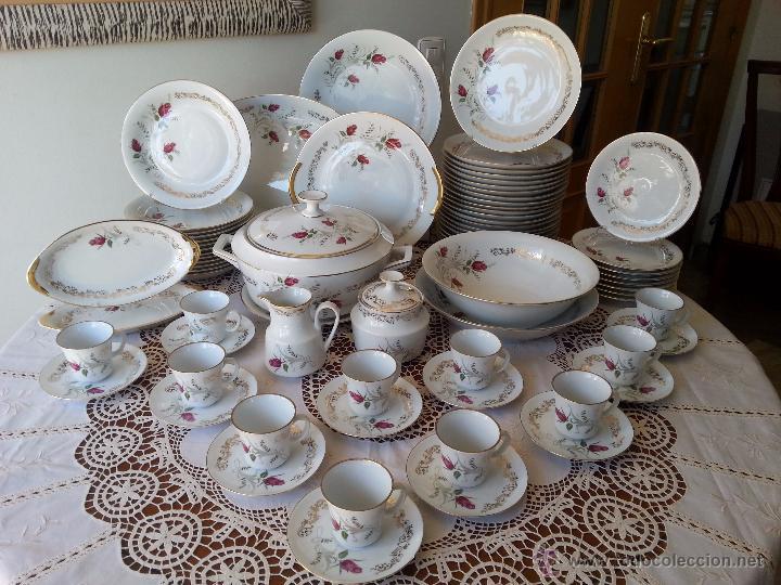 Vajilla de porcelana de limoges 75 piezas comprar for Vajillas elegantes