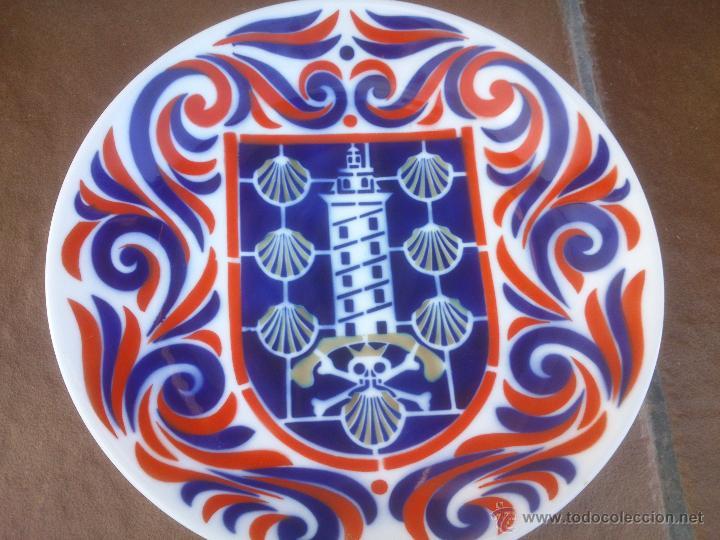 Antigüedades: Plato Torre de Hércules y viera Santiago cerámica Castro Sargadelos - Foto 2 - 49517761