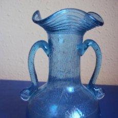 Antigüedades: (ANT-051)JARRON DE VIDRIO SOPLADO AZUL FINALES DEL SIGLO XIX. Lote 49521541