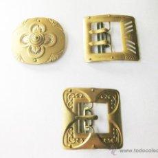 Antigüedades: 3 HEBILLAS DE CINTURON DE LOS AÑOS 30. Lote 49522067
