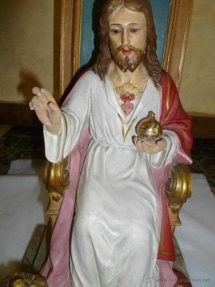 Antigüedades: CRISTO REY SENTADO EN SU TRONO - Foto 3 - 49526749