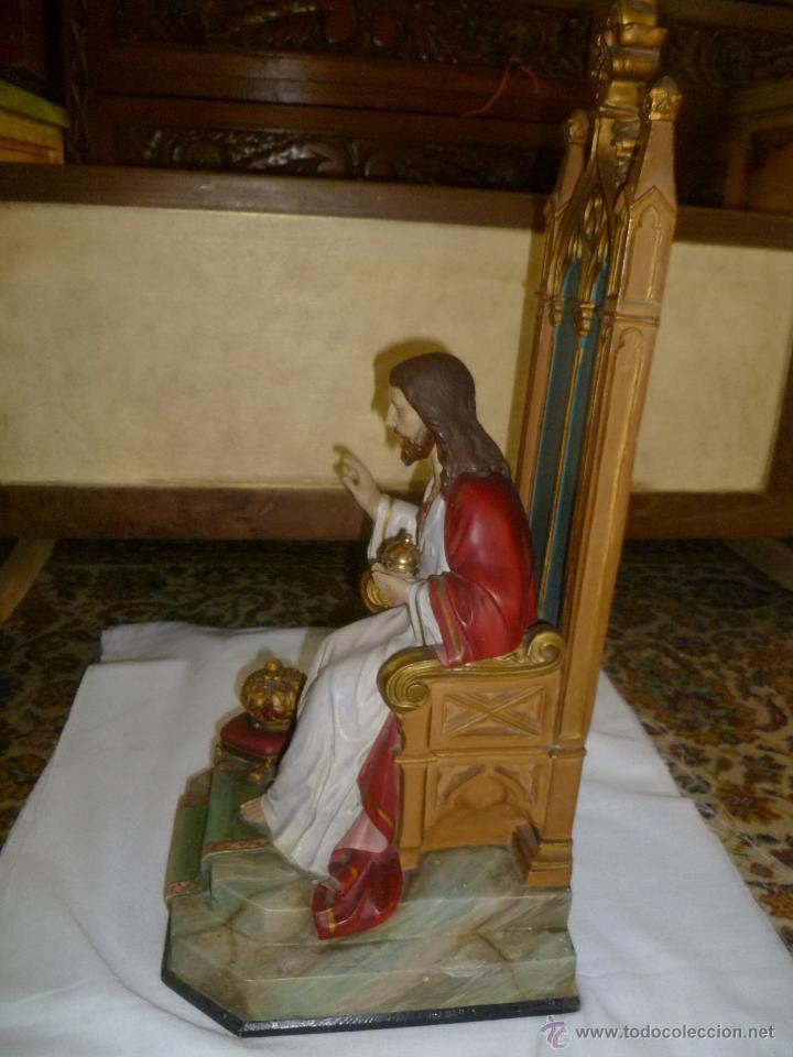 Antigüedades: CRISTO REY SENTADO EN SU TRONO - Foto 5 - 49526749