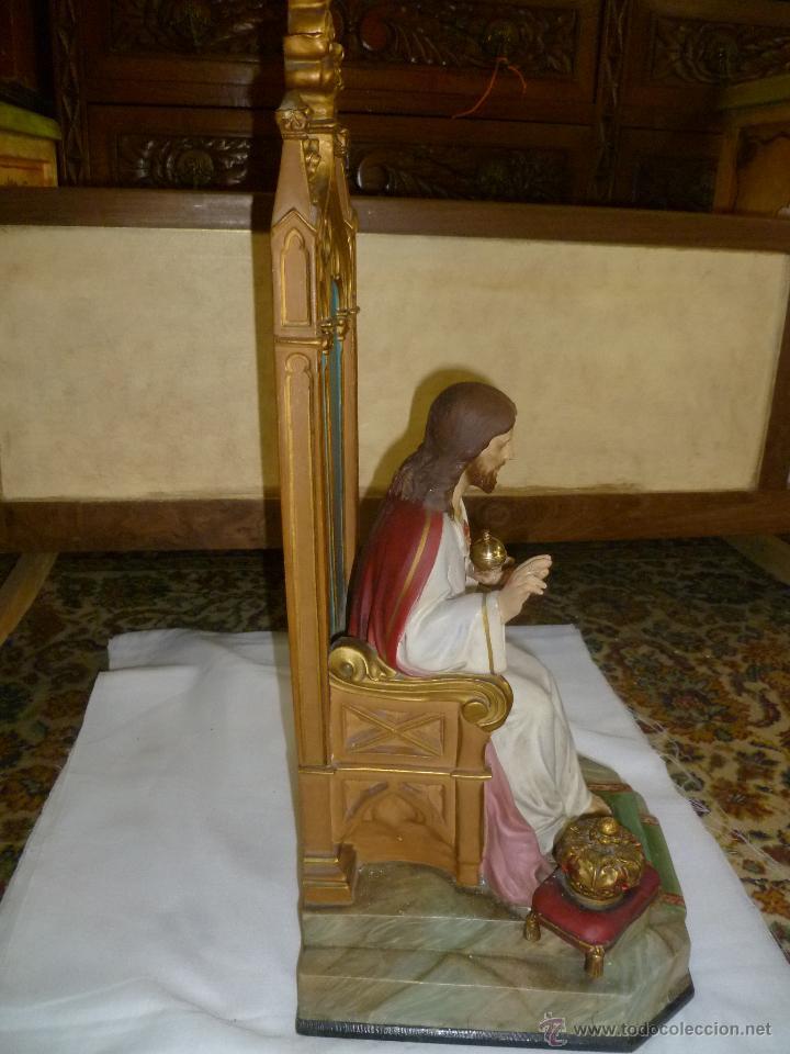 Antigüedades: CRISTO REY SENTADO EN SU TRONO - Foto 6 - 49526749