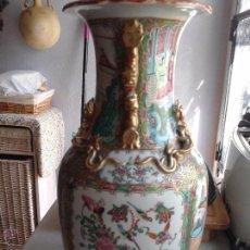 Antigüedades: JARRÓN CHINO CANTONES. SIGLO XIX. TAMAÑO IMPORTANTE. PERFECTO ESTADO. Lote 49528541