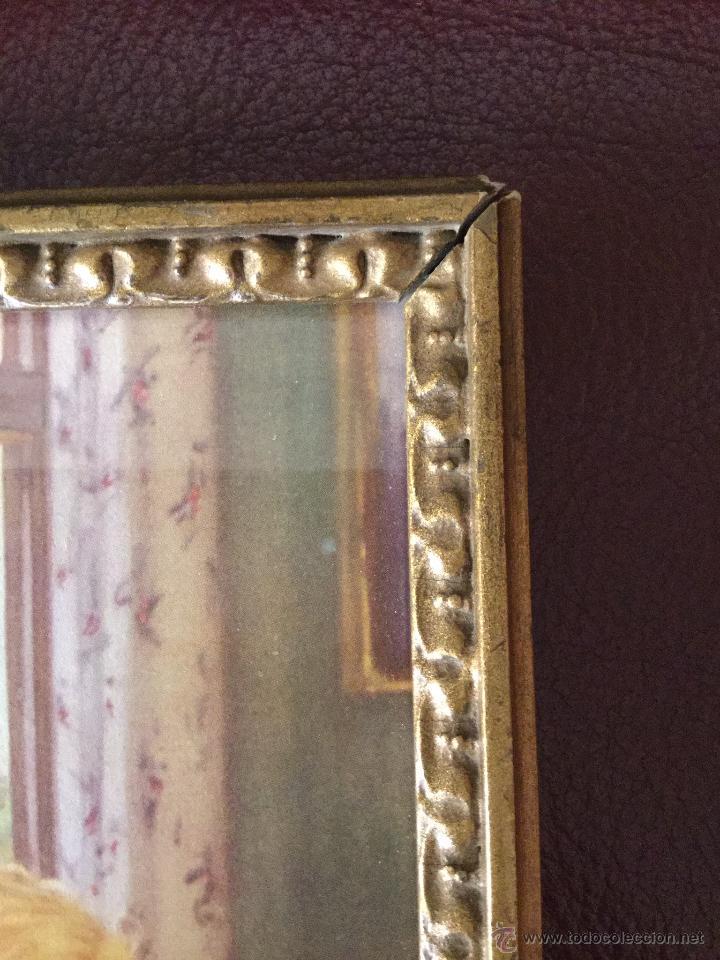 Antigüedades: cuadro con lámina coloreada, muy bonito y entrañable. - Foto 5 - 49532247