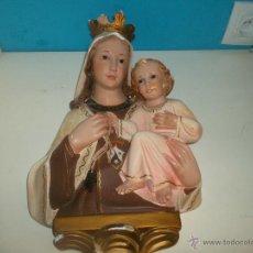 Antigüedades: BONITA VIRGEN ESCAYOLA ANTIGUA. Lote 49533885