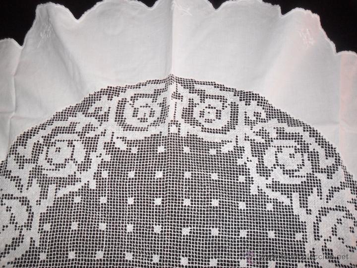 Antigüedades: Mantel con encaje de red - Foto 3 - 49537695