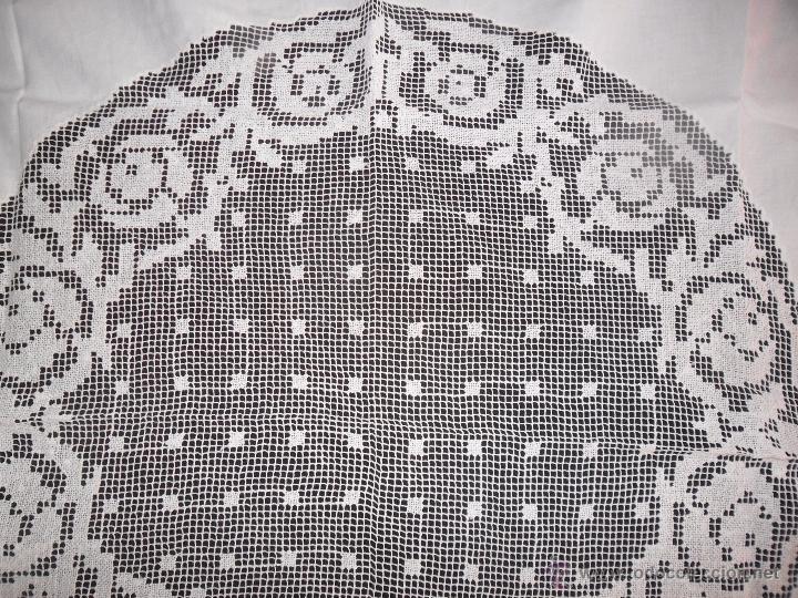 Antigüedades: Mantel con encaje de red - Foto 4 - 49537695