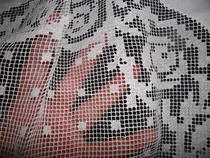 Antigüedades: Mantel con encaje de red - Foto 9 - 49537695