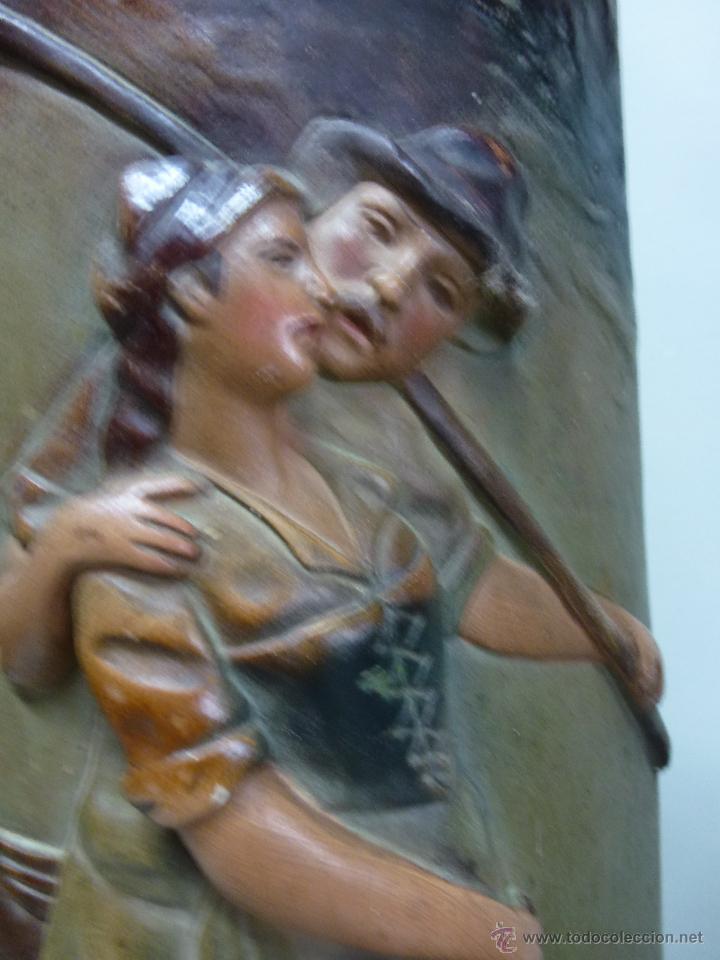 Antigüedades: Pareja de jarrones, floreros en terracota. Franceses, casa Depose - Foto 5 - 49542602