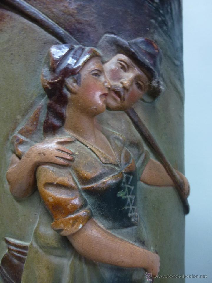 Antigüedades: Pareja de jarrones, floreros en terracota. Franceses, casa Depose - Foto 6 - 49542602