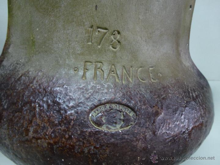 Antigüedades: Pareja de jarrones, floreros en terracota. Franceses, casa Depose - Foto 9 - 49542602