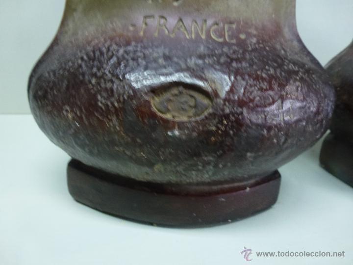 Antigüedades: Pareja de jarrones, floreros en terracota. Franceses, casa Depose - Foto 12 - 49542602
