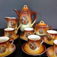 Antigüedades: JUEGO DE CAFE ART NOUVEAU. PORCELANA. Lote 49542916
