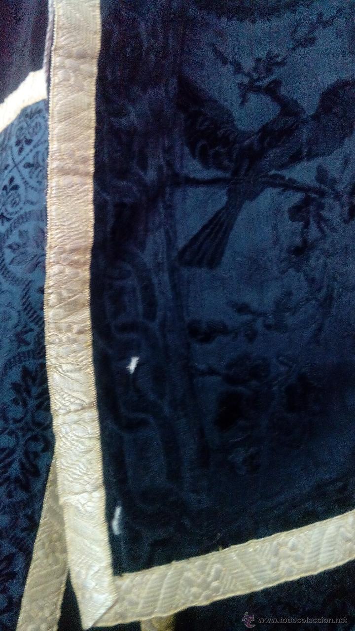 Antigüedades: DALMATICA ANTIGUA DE COLOR NEGRA PARA LITURGUIA PRECIOSA (PAREJAS) - Foto 9 - 49546771