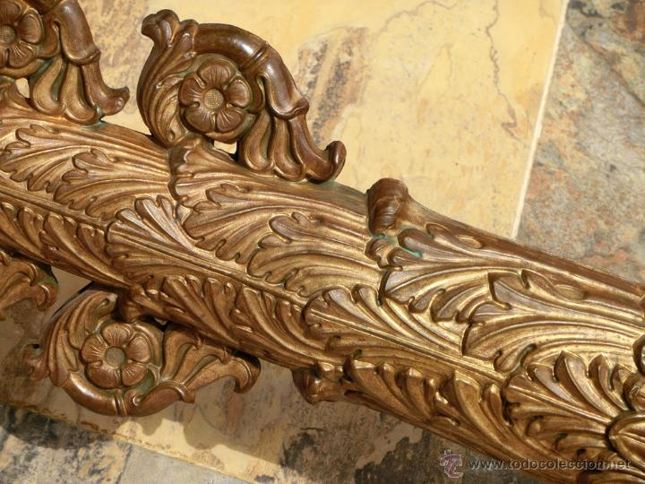 Antigüedades: ANTIGUO E IMPRESIONANTE CANDELABRO DE IGLESIA - LATÓN REPUJADO Y BRONCE - 7 BRAZOS - RELIGIOSO - Foto 6 - 49549887