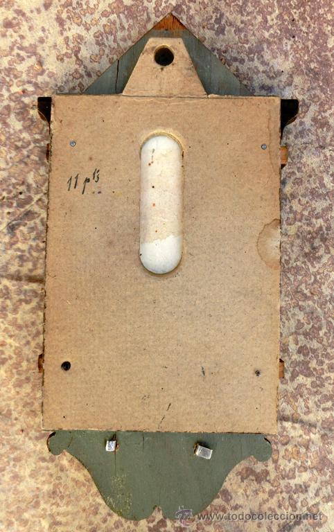 Antigüedades: ANTIGUA Y BONITA BENDITERA DE MADERA TALLADA - VIRGEN PERPETUO SOCORRO - Foto 4 - 49552111