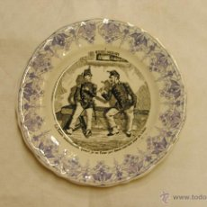 Antigüedades: PLATITO DE PORCELANA FRANCESA DE SARREGUEMINES. Lote 49563777