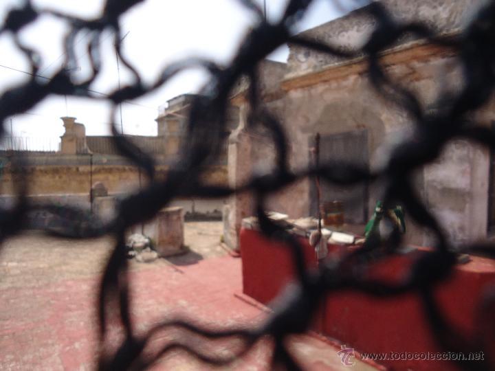 Antigüedades: MANTONCILLO O MANTON CON ESPECTACULARES FLECOS REALIZADOS A MANO, 165 X 70 + 55 CM FLECOS - Foto 4 - 49577792
