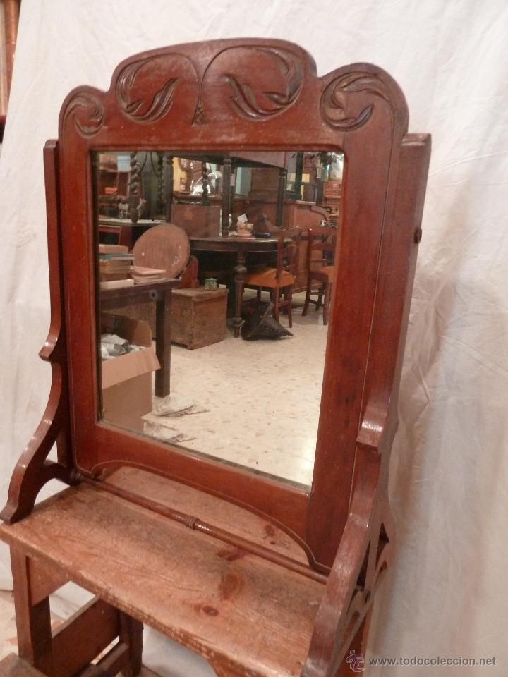 espejo basculante de sobremesa para tocador antigedades muebles antiguos espejos antiguos