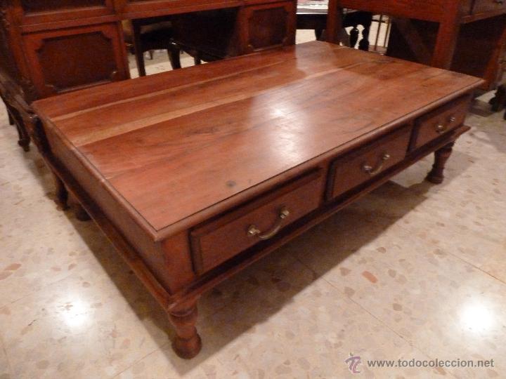 Mesa de centro baja y grande madera tropical comprar - Mesa centro baja ...