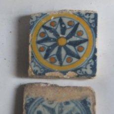 Antigüedades: AZULEJO O RACHOLA OLAMBRILLA ROSA DE LOS VIENTOS TALAVERA S XVI. Lote 158170006