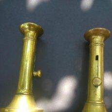 Antigüedades: * ANTIGUA PAREJA DE PORTAVELAS.BRONCE FUNDIDO. FINALES S XIX. Lote 49588827