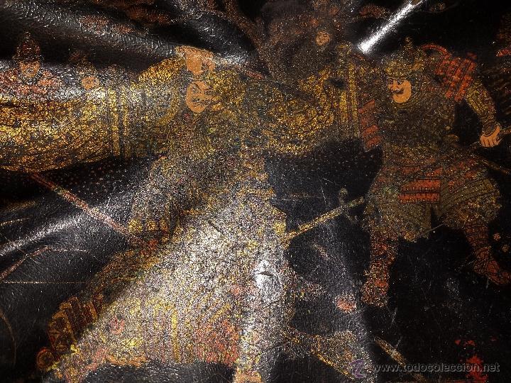Antigüedades: Bandeja de madera Lacada con forma de concha. China - Foto 5 - 49594306