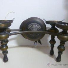 Antigüedades: 2 APLIQUES DE LATÓN SIN TULIPAS.. Lote 49599660