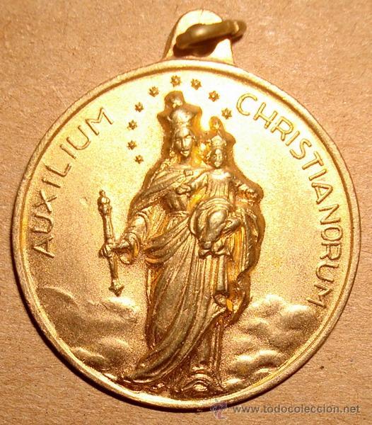 MEDALLA RELIGIOSA (Antigüedades - Religiosas - Medallas Antiguas)