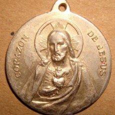 Antigüedades: MEDALLA RELIGIOSA CORAZON DE JESUS . Lote 49600083
