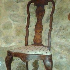 Antigüedades: SILLA REINA ANA HOLANDESA. Lote 49602390
