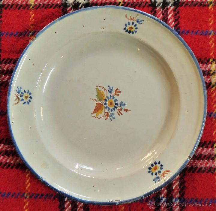 PLATO 31CM ALCORA S.XIX (Antigüedades - Porcelanas y Cerámicas - Alcora)