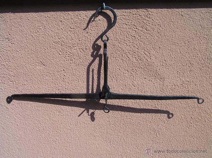 Antigüedades: BALANZA SIGLO XVIII. FORJA . TRATADA. Lista para colgar. - Foto 15 - 49604598