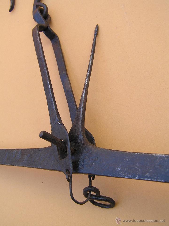 Antigüedades: BALANZA SIGLO XVIII. FORJA . TRATADA. Lista para colgar. - Foto 16 - 49604598