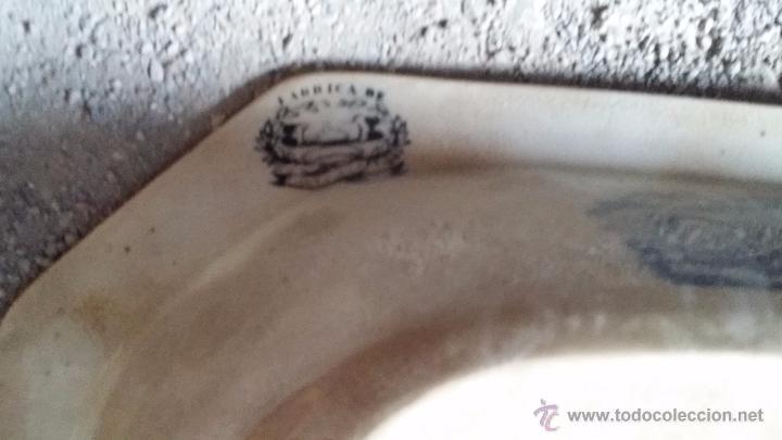 Antigüedades: antigua fuente o ensaladera de cartagena, sellada. - Foto 6 - 49606929