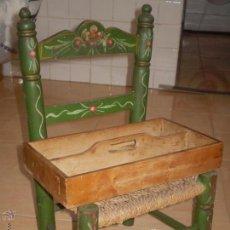 Antigüedades: ANTIGUA BANDEJA PARA CUBIERTOS O CUCHARERO EN MADERA AÑOS 40.50.. Lote 49607022