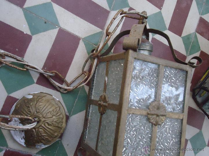 Antigüedades: ANTIGUO PRECIOSO FARO FAROL METAL Y CRISTAL LABRADO, - Foto 2 - 49617840