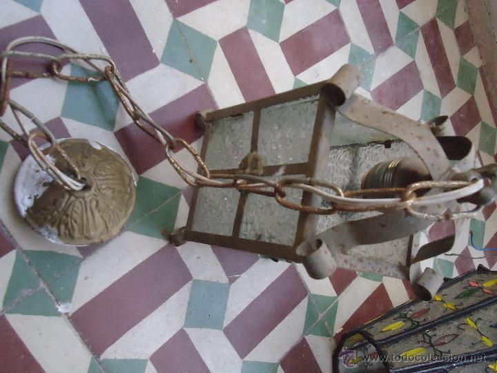 Antigüedades: ANTIGUO PRECIOSO FARO FAROL METAL Y CRISTAL LABRADO, - Foto 4 - 49617840