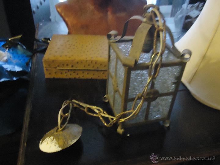 Antigüedades: ANTIGUO PRECIOSO FARO FAROL METAL Y CRISTAL LABRADO, - Foto 5 - 49617840