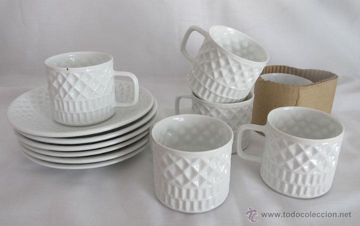 Tazas y platillos juego de cafe castro antiguo comprar for Juego tazas cafe