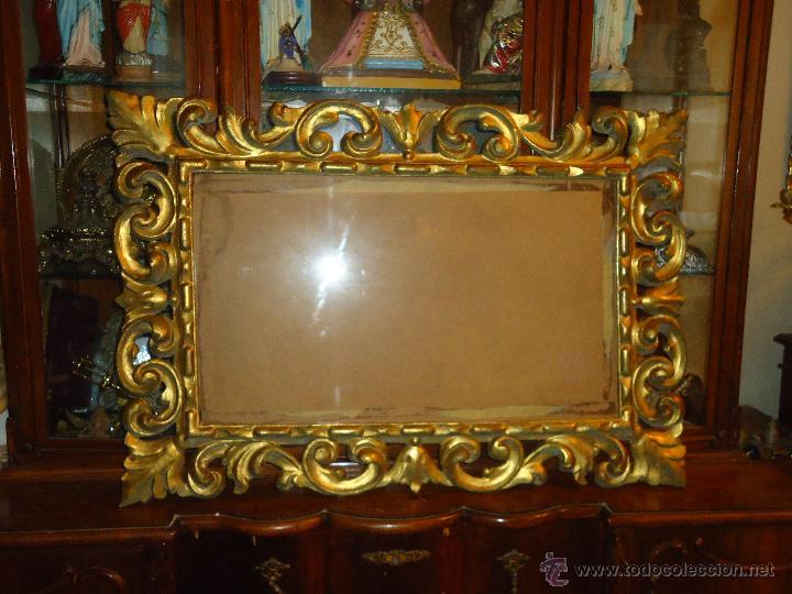 espectacular marco cuadro talla de madera gran - Comprar Marcos ...