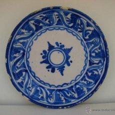 Antigüedades: ANTIGUO PLATO DE CERAMICA DE TALAVERA. SIGLO XVIII-XIX. Lote 49642457