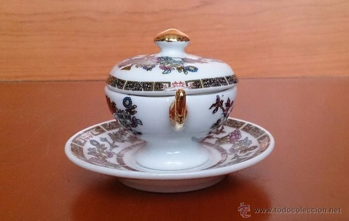 Antigüedades: Sopera en porcelana policromada estilo con estilo oriental y detalles en oro de ley 18 k, sellada . - Foto 4 - 49643687